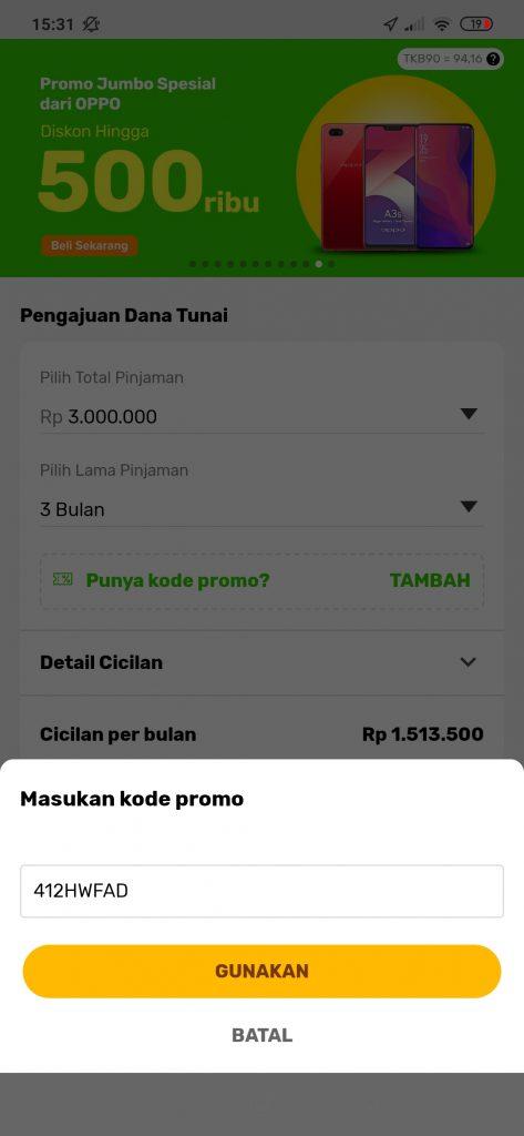 kode promo referral indodana