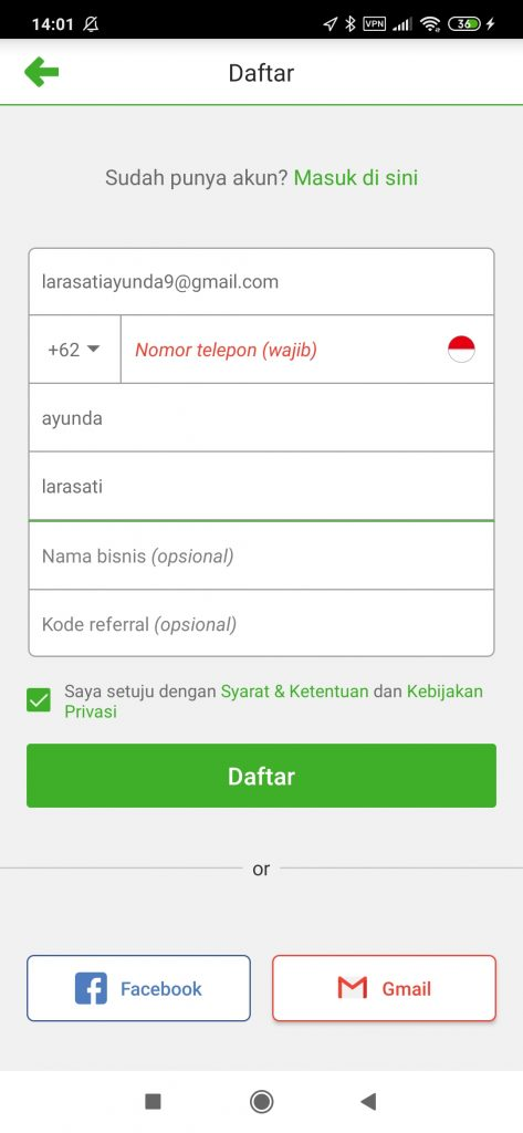 kode referral deliveree